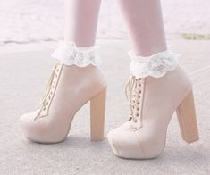 Campbell and frilly socks