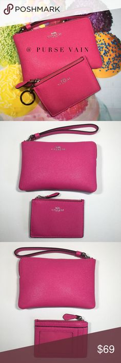 524962a4ce Coach leather ID wallet and wristlet pouch Coach Leather ID Wallet and  Wristlet Pouch - Authentic