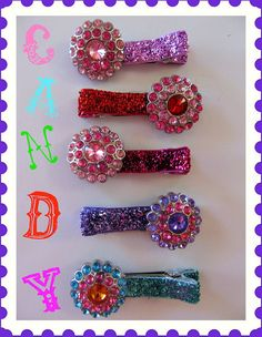 Candy Glitter Clips by AppelillysGoodies on Etsy, $8.00