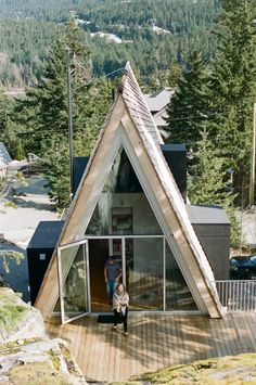 A Whistler A-Frame · Alpine Modern A Frame Cabin, A Frame House, Alpine Modern, Triangle House, Cabins And Cottages, Cabin Homes, Cabins In The Woods, Architect Design, Future House