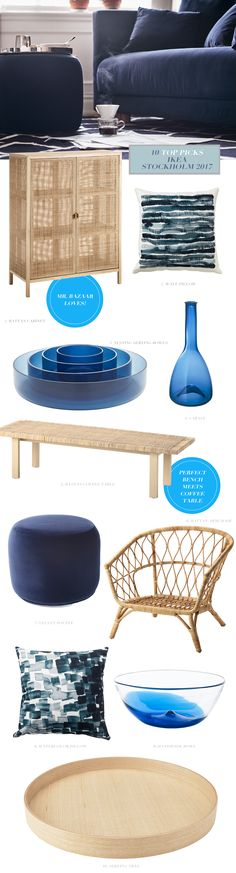 Top 10 picks from the new Ikea Stockholm collection affordable but elegant style from Ikea - inspiration with blues