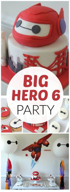 Such an awesome Big Hero 6 boy birthday party! See more party ideas at http://CatchMyParty.com!