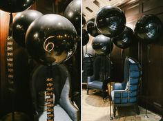 giant balloon seating chart || cool idea; slightly different execution