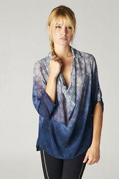 Bridget Chiffon Tunic in Blue Wash on Emma Stine Limited