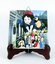 Kiki's Delivery Service Ceramic Tile  Handmade by TerryTiles2014