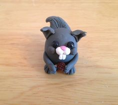 Forrest Friends Squirrel Figurine by MoldedMenagerie on Etsy