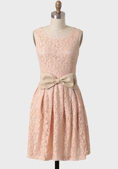 Meringue Lace Belted Dress