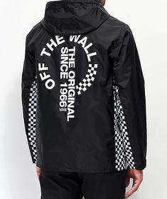 9a6c450bbc0 Vans Distorted Off The Wall Black Anorak Jacket