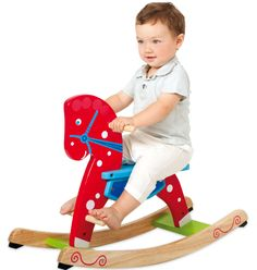 Natural Bamboleo Pony -  Caballito balancín de madera #baby #toys #imaginarium