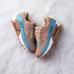Nike Air Max 90 LX Mushroom/Smokey Blue // Release Date | Nice Kicks