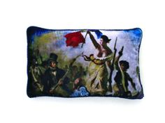 Pure silk velvet feature cushion covers from our 'gallery' range, matching throw cushions available.  'The Patriot' is our homage to Marianne, the heroine of the French Revolution..for all the francophiles
