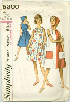 Simplicity 5300 - Misses' Beach Tent Dress in Two Lengths and Scarf