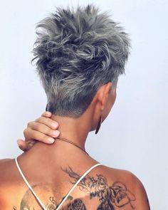 Short Hair With Layers, Long Layered Hair, Short Hair Cuts For Women, Long Hair Cuts, Funky Short Hair, Long Pixie Cuts, Medium Hair Styles, Curly Hair Styles, Women Haircuts Long