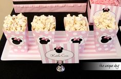 Minnie Mouse Birthday Party, Popcorn Box Party Favor Printable - DIY Party Favor - Instant Download // MIN - 04 on Etsy, $6.00
