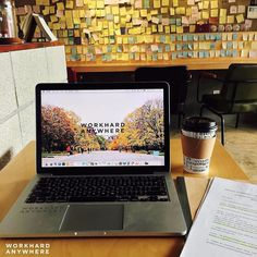 Trevor @trevorwong93 is liking the autumn weather and studying hard at Cafe SUONO in Incheon South Korea #workhardanywhere ---- Use our app to find spaces like these to work from. ----  by: @trevorwong93 Wallpaper collab with: @agardenofeden