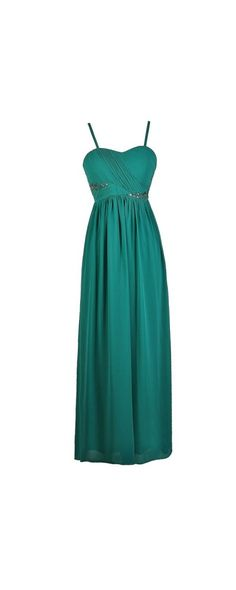 Dream Evening Rhinestone Embellished Maxi Dress in Jade  www.lilyboutique.com