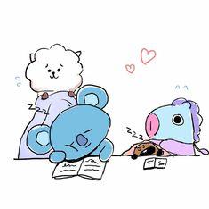 fanart ♡ bts bts, fan art ve namjin. Namjin, Leprechaun, Bts Cute, Army Love, Line Friends, Bts Chibi, Bts Fans, Kpop Fanart, W 6