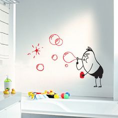 4make Bubbles Wally Wall Decal