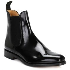Mens Black 290 B Polished Chelsea Boots ($225) ❤ liked on Polyvore featuring men's fashion, men's shoes, men's boots, mens shoes, mens black chelsea boots, mens leather chelsea boots, loake mens shoes and mens black leather boots