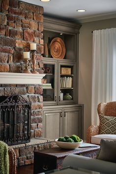 #Kitchen #cabinetry #ideas and #inspiration! Be inspired by these #rustic #farmhouse #fireplace #cabinet #designs as you plan for your #home #remodel & #renovation. #hearthroom  Reply
