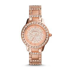 Fossil Jesse Three-Hand Stainless Steel Watch - Rose