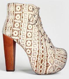Ivory Lace Platform Lita Boots   Shop Jeffrey Campbell Lita Shoes Now   fredflare.com