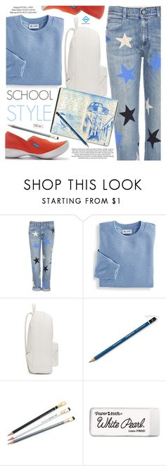 """School Style"" by regettacanoe ❤ liked on Polyvore featuring STELLA McCARTNEY, Blair, xO Design, PB 0110, Paper Mate, polyvoreeditorial, polyvoreset and regettacanoe"