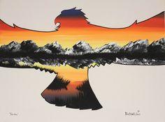 Kitigan Peter Bighetty - Sunset Eagle Freedom, $75.00 (http://www.kitigan.com/freedom/)