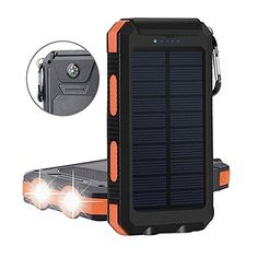 20000mAh Solar Power Bank Solar Charger Waterproof Portable External Battery USB Charger Built in LED light with Compass for iPad iPhone Android Cellphones, 5 Colors Avaliable  http://topcellulardeals.com/product/20000mah-solar-power-bank-solar-charger-waterproof-portable-external-battery-usb-charger-built-in-led-light-with-compass-for-ipad-iphone-android-cellphones-5-colors-avaliable/?attribute_pa_color=black-orange  High Capacity: Built-in 20000mAh high capacity polymer bat