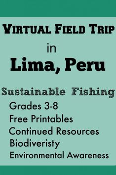 Virtual Field Trips in Lima, Peru – Sustainable Fishing