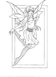 Amy Brown Fairy Coloring Book Myth Mythical Mystical Legend Elf Fae Wings Fantasy Elves
