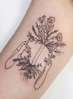 Tattoo Girls, Girl Back Tattoos, Sister Tattoos, Friend Tattoos, Bookish Tattoos, Literary Tattoos, Roald Dahl, Body Art Tattoos, Sleeve Tattoos