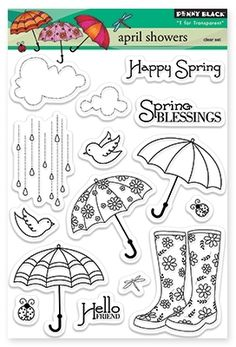 Penny Black April Showers - Clear Stamp. - bjl