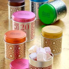 "Divan Turkish Delight ""Packed in brightly colored geometric patterns, a regional treat pleases the palate and the eye."""