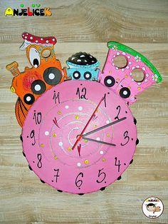 anjelicek / Hodiny - vláčik Clock, Wall, Decor, Watch, Decoration, Clocks, Walls, Decorating, Deco