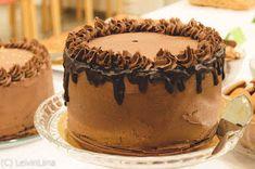 LeivinLiina: Suklaakakku suklaakreemillä Desserts, Food, Tailgate Desserts, Deserts, Essen, Postres, Meals, Dessert, Yemek