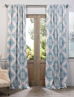 Henna Teal Blackout Curtain - SKU: BOCH-KC27A at https://halfpricedrapes.com