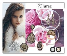 """ALLUREZ  10"" by lejla-cergic ❤ liked on Polyvore featuring мода, Allurez, Invicta и White Label"