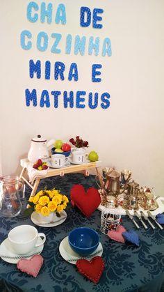 Decoração do chá de cozinha  Mira e Matheus   Chá de Cozinha - Chá de panela