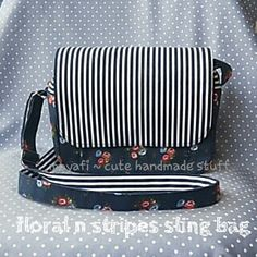 Cute navy sling bag ~ by moyafi