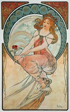 The painting - Alphonse Mucha - Four arts