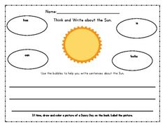 Sun, Moon, and Earth Literacy/Math Unit~2 Freebies in Download preview :o)