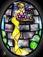 Stained Glass Rapunzel by CallieClara