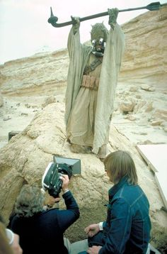 "Shooting the Tusken Raider attack on location in Tunisia for the original 1977 ""Star Wars."""