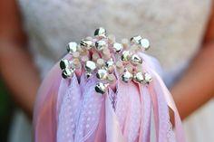Wedding Wands - Hochzeitsstäbe mit Glöckchen in silber oder gold Wedding Wands, Girls Dresses, Flower Girl Dresses, Tulle, Wedding Dresses, Etsy, Floral, Flowers, Handmade