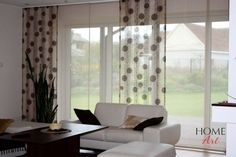 Japanese (panel system) curtains | Home Art Types Of Curtains, Panel Systems, Curtain Ideas, Window Design, Home Art, Japanese, Windows, Living Room, Home Decor
