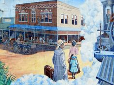 Mural on an exterior wall in downtown Helena, Phillips Co., AR. My copyright.