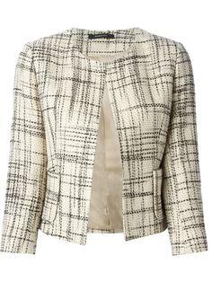 Tagliatore Cropped Tweed Jacket - Stefania Mode - Farfetch.com