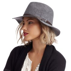 Charcoal Wool Panama Hat