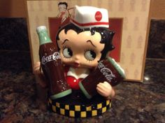 Betty Boop Soda Jerk Coca Cola Salt and Pepper Set